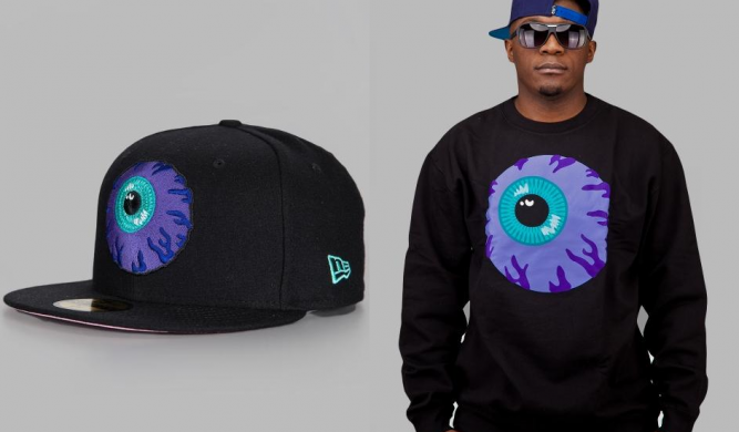 Keep Watch Crewneck Sweater Black Purple new era 59ifty  mishka
