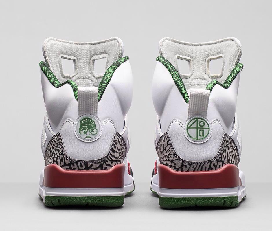 The Jordan Spizike-White-Green-Varsity Red