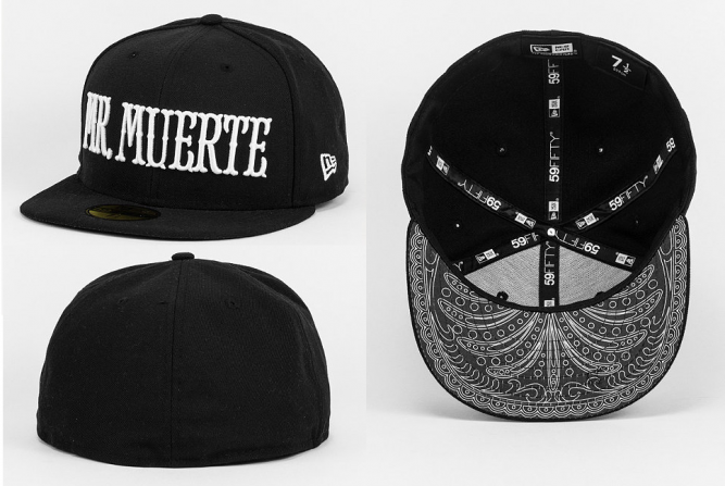 New Era Fitted-Cap Sugarvize Mr Muerte black white