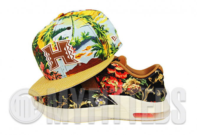 hawaii-rainbow-warriors-floral-paradise-sublimate-straw-weave-kd-vii-floral-qs-new-era-strapback