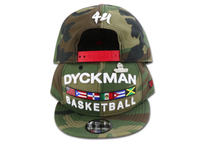 DYCKMAN BASKETBALL-NEW-ERA-9FIFTY-CAMO-SNAPBACK-WITH-PIN