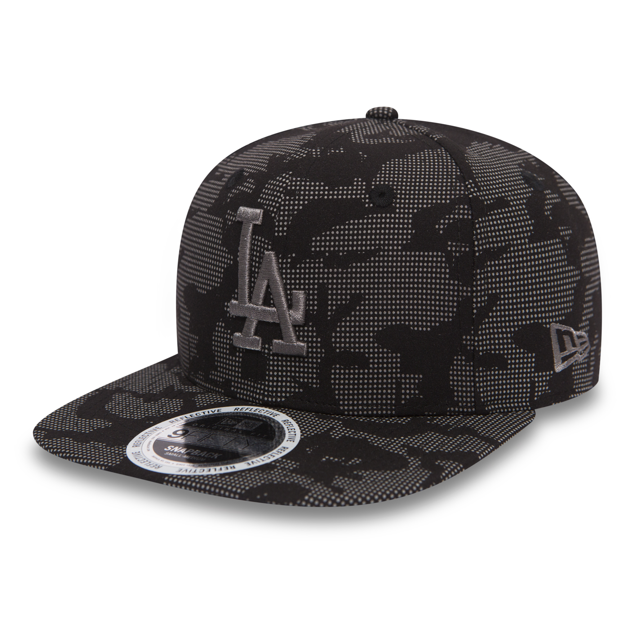 NIGHT OPS REFLECTIVE 9FIFTY. LOS ANGELES DODGERS. BLACK