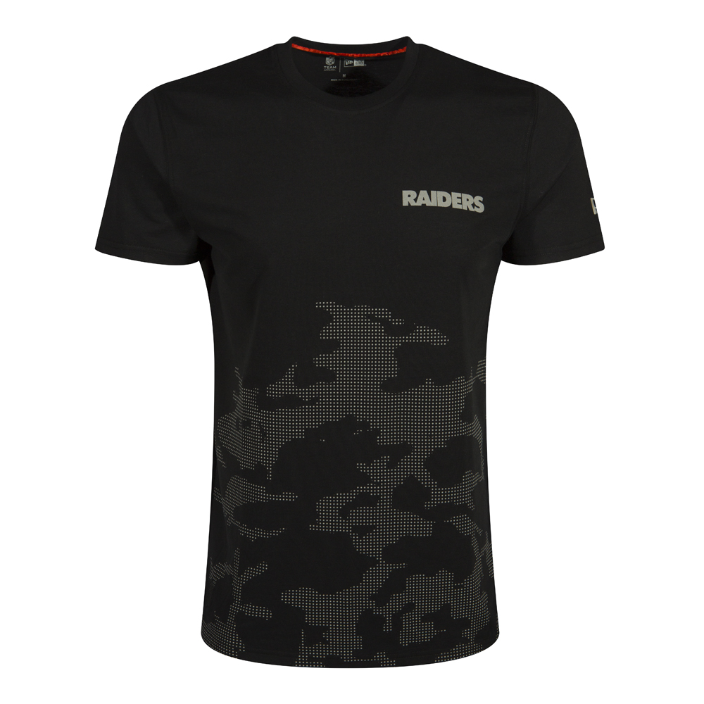 NTC REFLECTIVE CAMO TEE. OAKLAND RAIDERS. BLACK